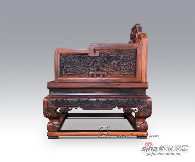 连天红云龙纹宝座-2