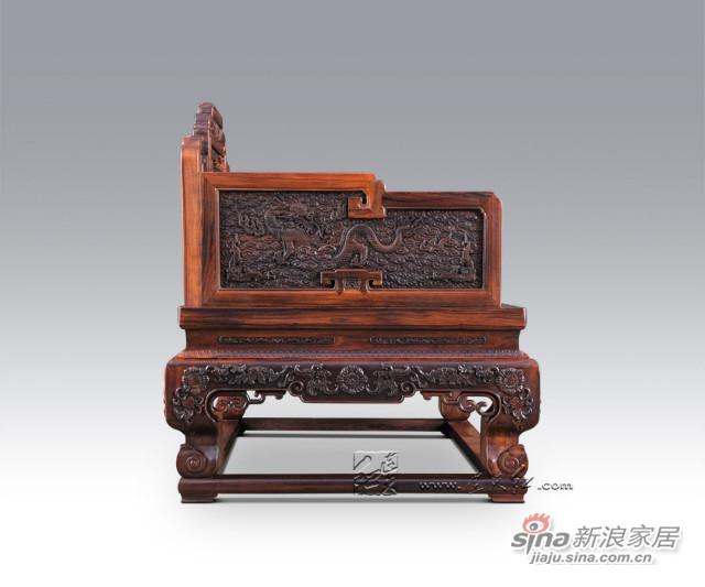 连天红云龙纹宝座-4