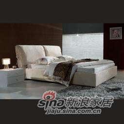 B&E佰宜家居 时尚软体家具 卧室 软包床 布艺床 SD618 (非定制) -0