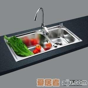 GORLDE优质不锈钢水槽/洗菜池 巴赫系列2028FY(大小盆)1