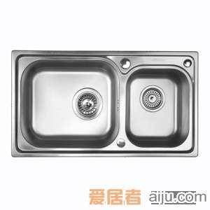 GORLDE优质不锈钢水槽/洗菜池 巴赫系列2028FY(大小盆)2