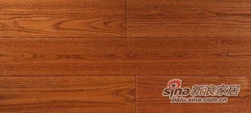 圣达地板本真实木系列—白蜡木仿古咖啡色