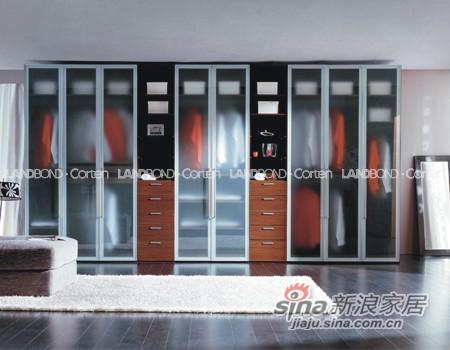 联邦高登折门衣柜――蒙砂玻璃折叠门-0