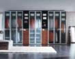 联邦高登折门衣柜――蒙砂玻璃折叠门