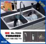 欧琳厨电双槽水槽套餐LHS2201