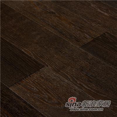 德合家BEFAG三层实木复合地板B55616单拼烟熏自然油拉丝橡木-1