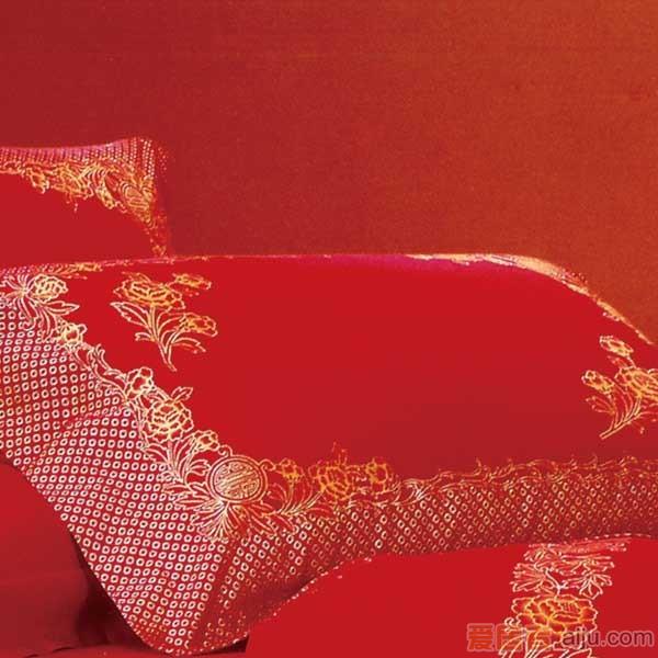 家元素床上用品四件套-花红映喜-HQ16000012