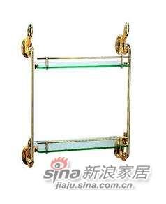 雅洁AT1121A-02双层玻璃架+K金-0