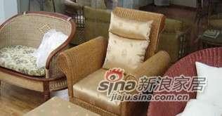 凰家御器藤编单人沙发懒人带脚凳NH-Y018