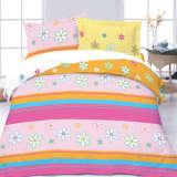 红富士床上用品高级全棉印花四件套彩色拼图绿