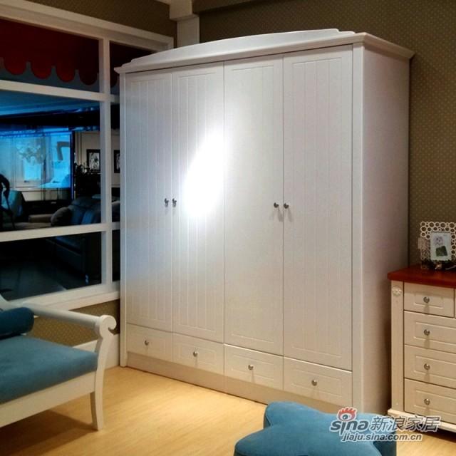 【新干线】板木4门衣柜衣橱储物柜-0