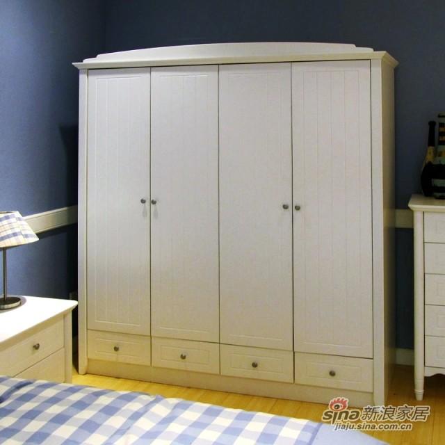 【新干线】板木4门衣柜衣橱储物柜-1
