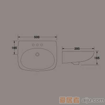 惠达台盆-LP2351