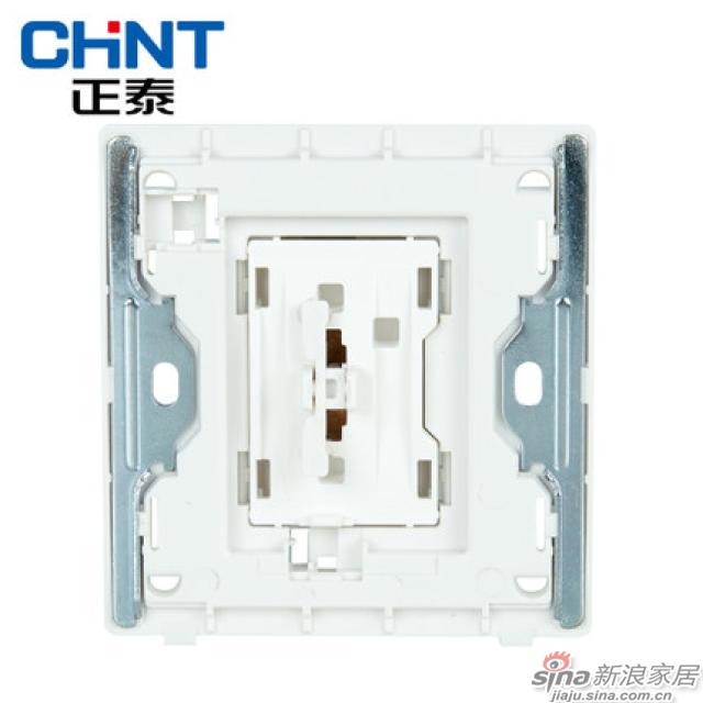 正泰电工新款墙壁开关插座NEW2D象牙白大面板开关一开双控16A关-1