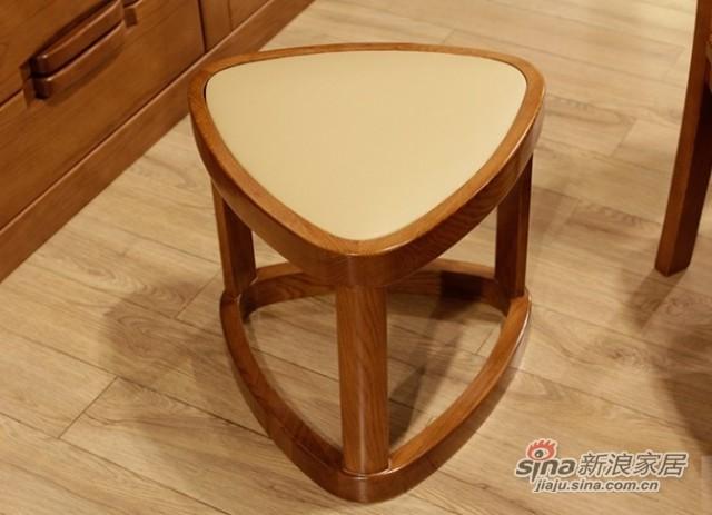 光明实木家具高端橡木梳妆台 -2
