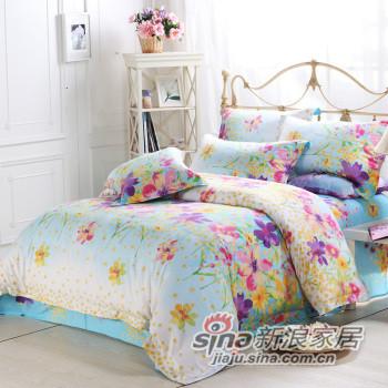水星家纺 套件/床上用品 全棉斜纹活性印花四件套 -0