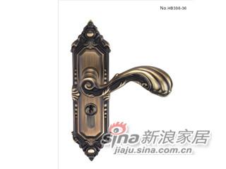 雅洁AS2051-HB398-36中锁英文镍锁体+英文70青古铜锁胆-0