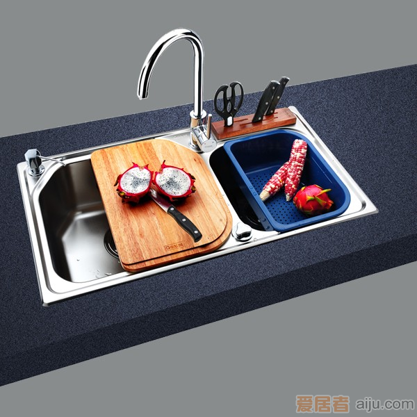 GORLDE优质不锈钢水槽/洗菜池 欧雅系列OY02(大小盆)1