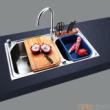 GORLDE优质不锈钢水槽/洗菜池 欧雅系列OY02(大小盆)