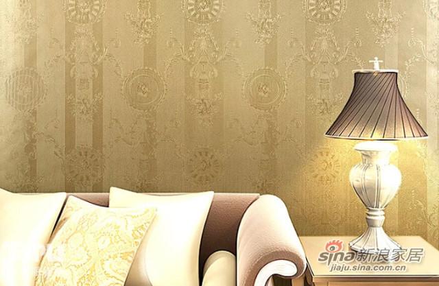 特普丽 法式无纺布壁纸 丝绸刻花墙纸-0