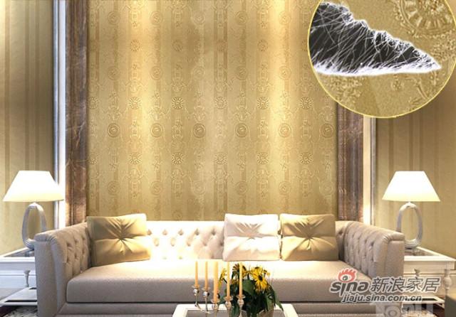 特普丽 法式无纺布壁纸 丝绸刻花墙纸-2