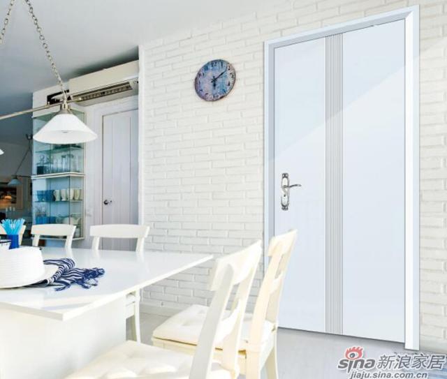 领尚木门白色光华-2