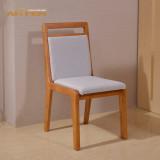 爱凡家具纯香柏木实木软靠餐椅