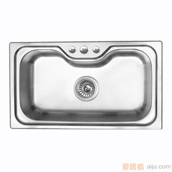 GORLDE优质不锈钢水槽/洗菜池 巴赫系列1016FY(大单盆)2