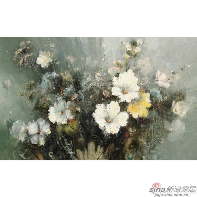 旖旎绽放_油画质感的花簇浓郁热烈壁画欧式风格背景墙_JCC天洋墙布-2