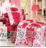 明超雅薇家纺浪漫佳人钻石棉系列大提花印花四件套