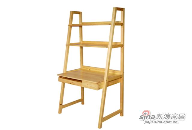 艾森木业名松屋松木系列全实木电脑桌-1