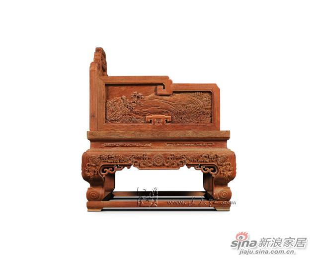 连天红溪山清远图宝座-4