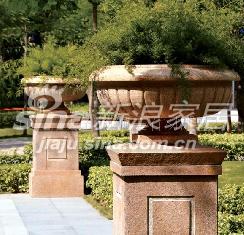 狮王石业石雕花盆