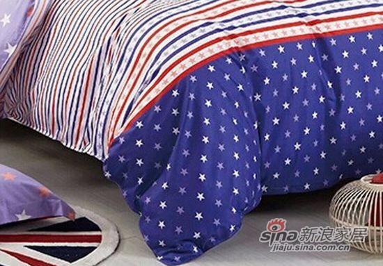 维科家纺100%纯棉活性印染四件套星条传奇-2