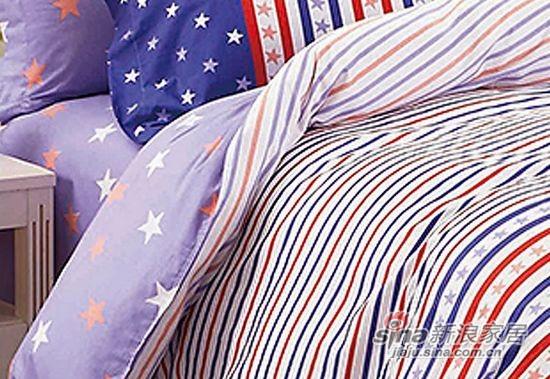 维科家纺100%纯棉活性印染四件套星条传奇-3
