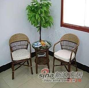 凰家御器棕情组合藤椅藤家具三件套NH-A019-0