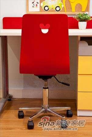 迪士尼儿童彩色家具-顽皮米奇-椅子(固定脚)-1