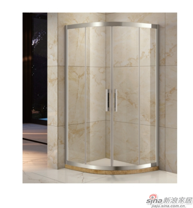SH2-3102S半弧形二固二移沐浴房-0