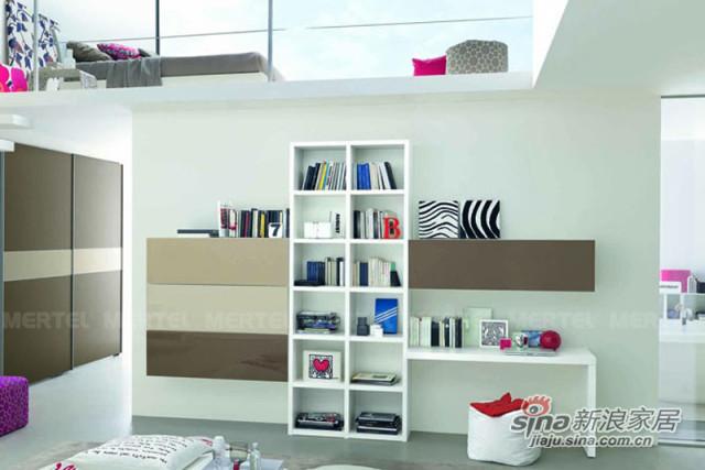个性十字壁挂书柜 配套实用小书桌