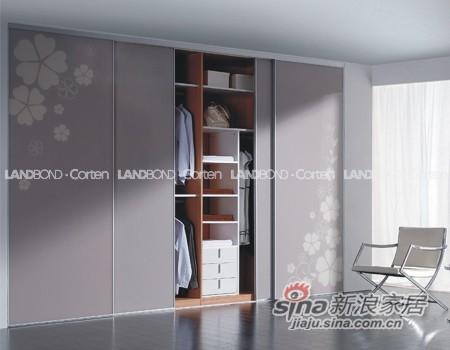 联邦高登烤漆玻璃移门衣柜――哔叽灰-0