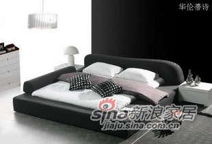 华伦蒂诗布艺软床双人床C802B