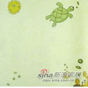 优阁壁纸海底世界儿童房环保墙纸灵动系列ld8272乌龟-0
