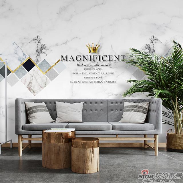 皎洁石纹_温润如玉大理石纹壁画办公室、大厅壁画背景墙_JCC天洋墙布