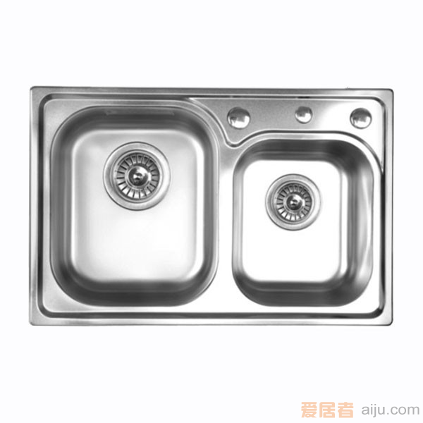 GORLDE优质不锈钢水槽/洗菜池 巴赫系列2001FY(大小盆)2