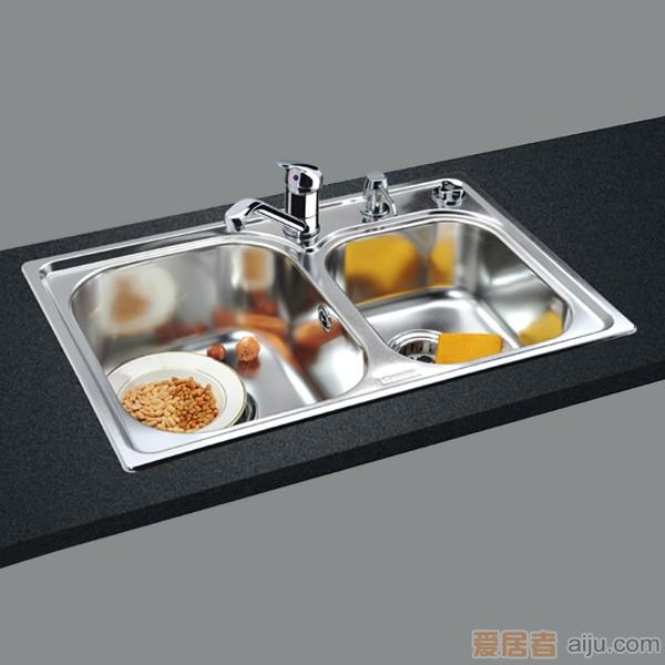 GORLDE优质不锈钢水槽/洗菜池 巴赫系列2001FY(大小盆)1