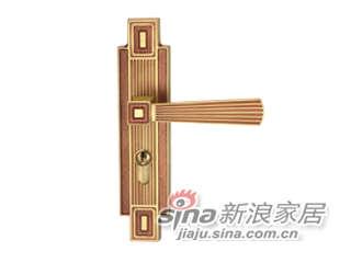 雅洁AS2051-C1713A-92中锁英文抛铜锁体+70英文抛铜锁胆-0