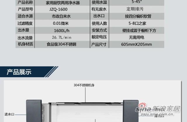 净之泉 JZQ-1600 -3