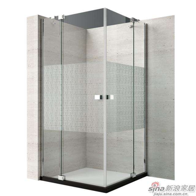 恒洁卫浴淋浴房HLG02F42