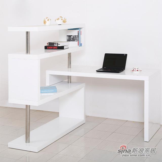 红星美凯龙时尚烤漆连体转角柜儿童书桌柜书房组合-0
