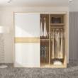 科凡简约现代家居推拉门衣橱 烤漆移门整体板式卧室简易衣柜CY013